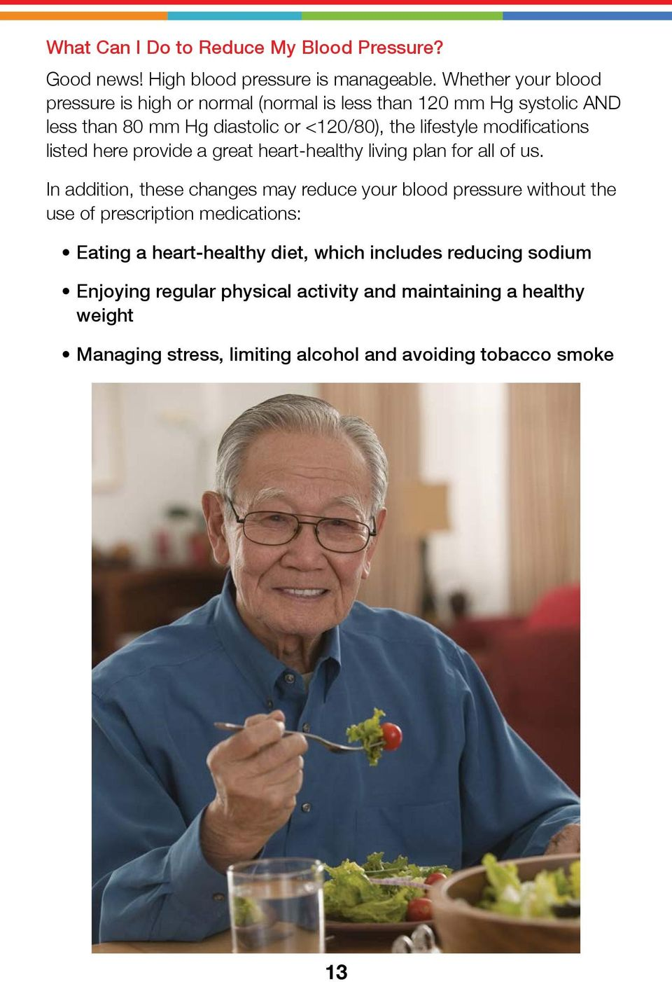 modifications listed here provide a great heart-healthy living plan for all of us.
