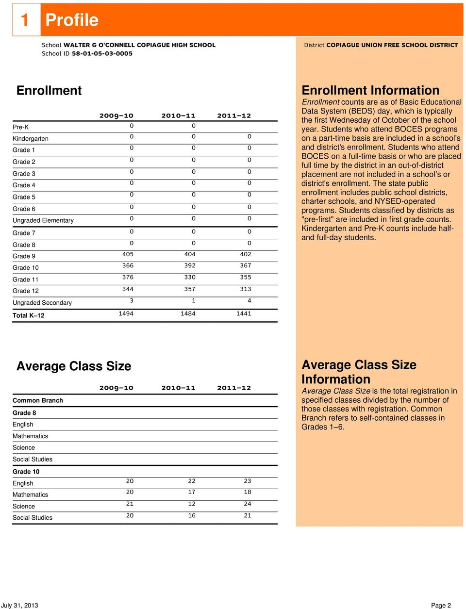 who attend BOCES programs on a part-time basis are included in a school s and district's enrollment.