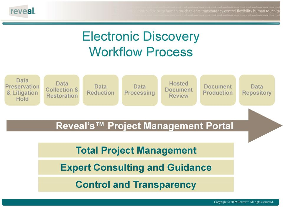 Review Document Production Data Repository Reveal s Project Management Portal