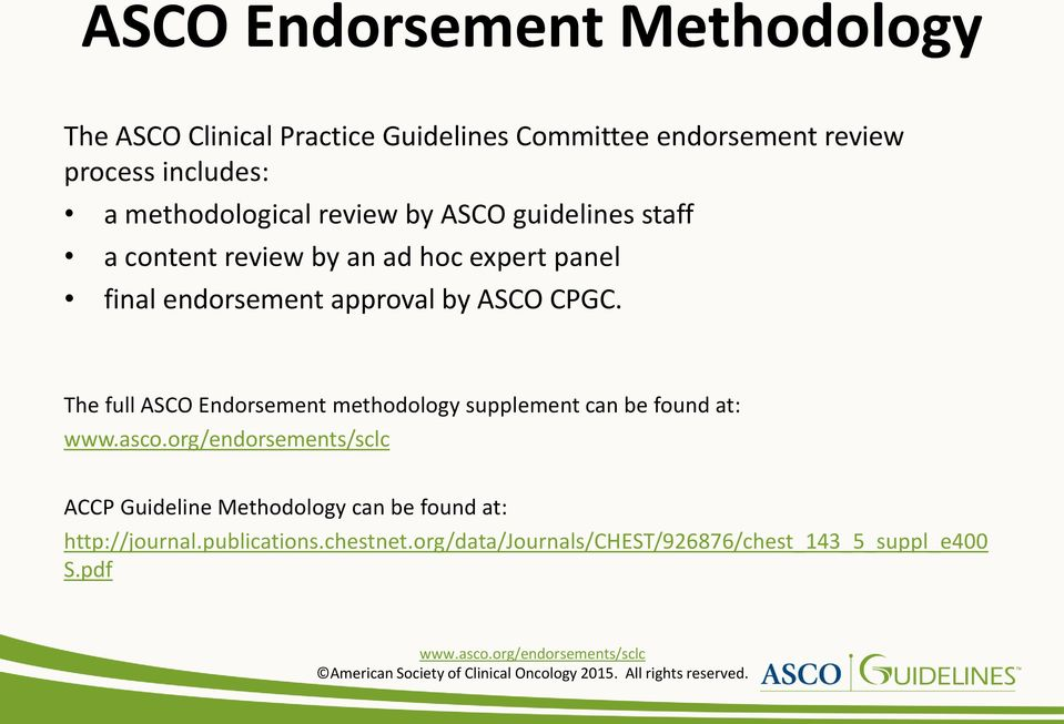 approval by ASCO CPGC.
