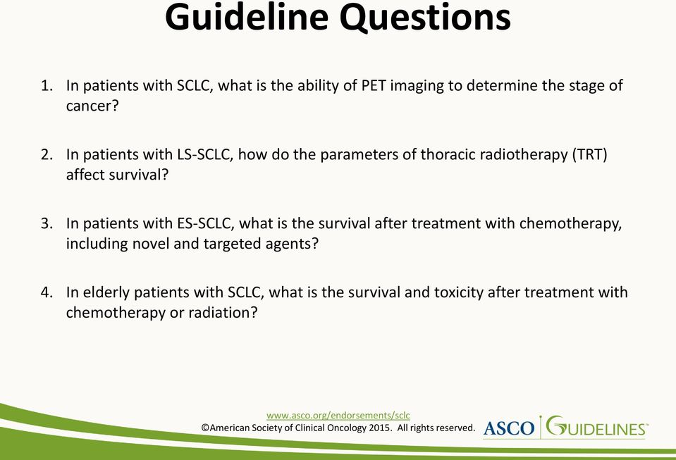 In patients with LS-SCLC, how do the parameters of thoracic radiotherapy (TRT) affect survival? 3.
