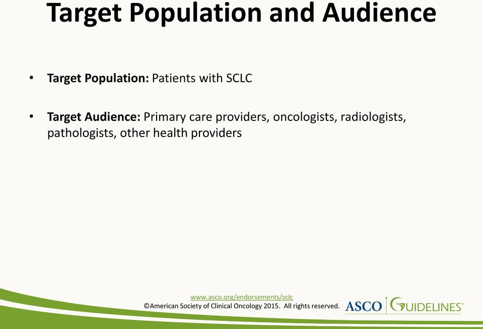 Audience: Primary care providers,