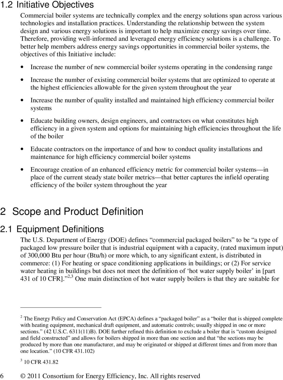 High Efficiency Commercial Boiler Systems Initiative Description - PDF