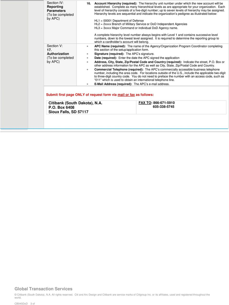 Individually Billed Account Travel Card Set Up Form - PDF