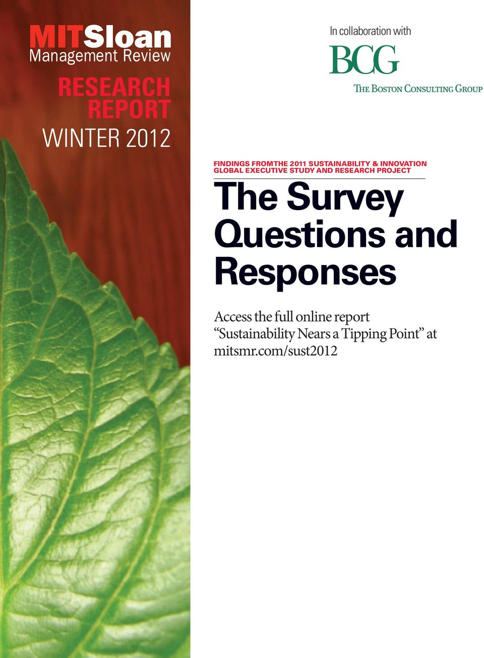 RESEARCH PROJECT The Survey Questions and Responses Access the full