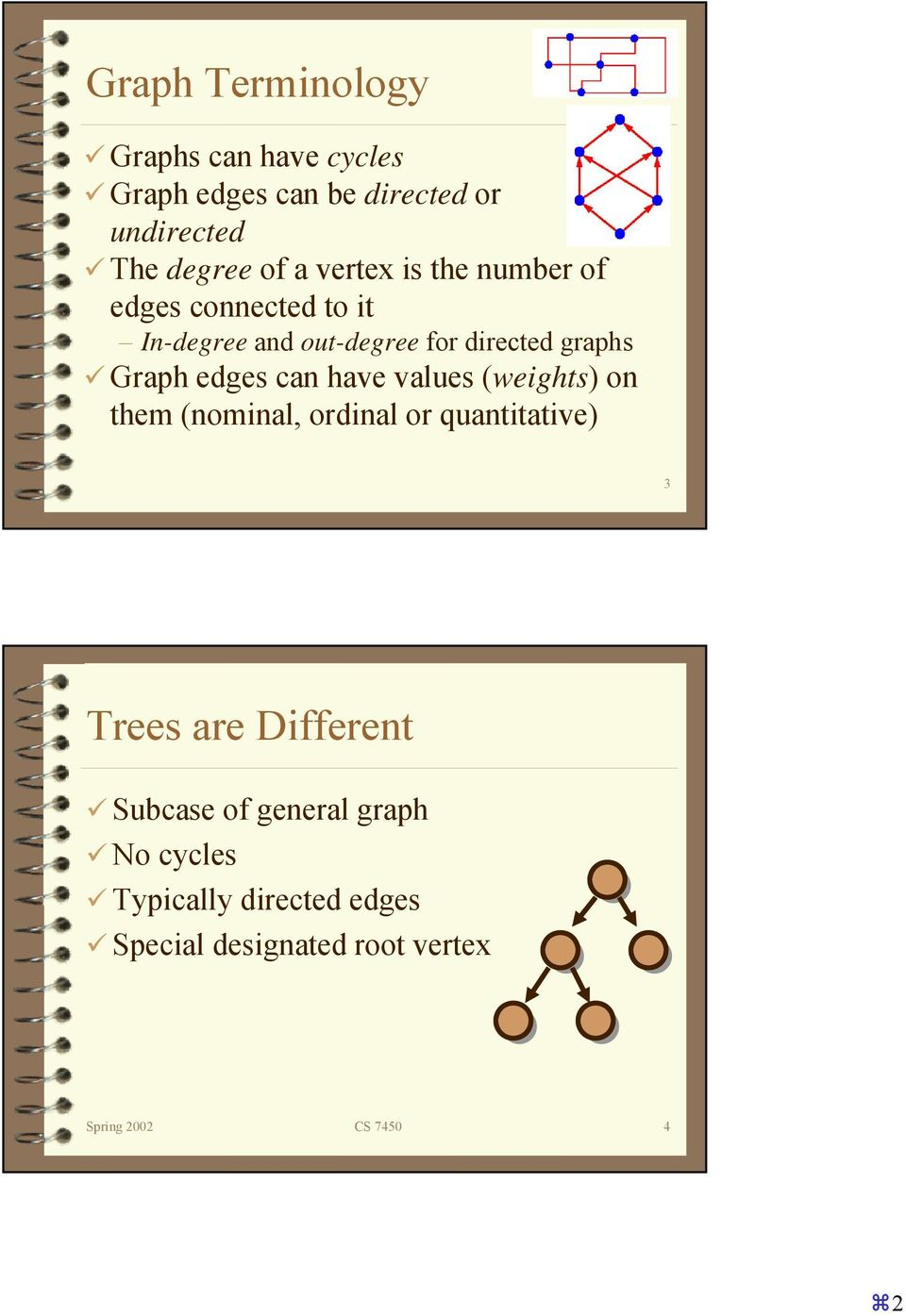 edges can have values (weights) on them (nominal, ordinal or quantitative) 3 Trees are Different