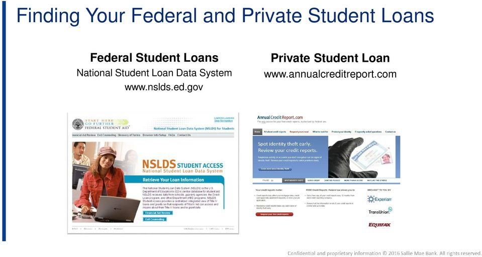 Student Loan Data System www.nslds.ed.