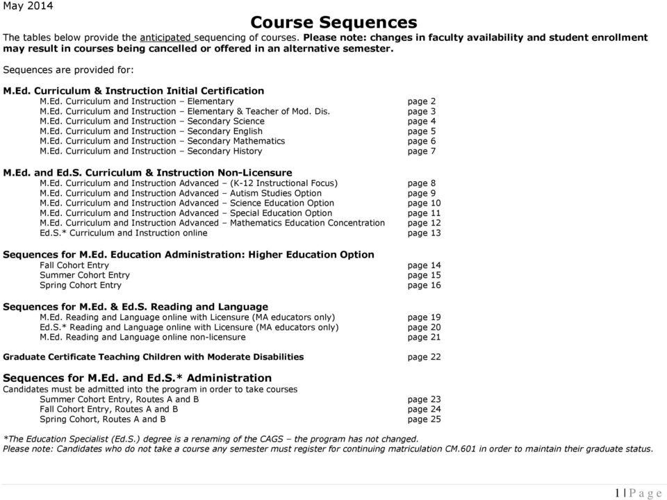 1 P A G E Sequences Are Provided For Pdf