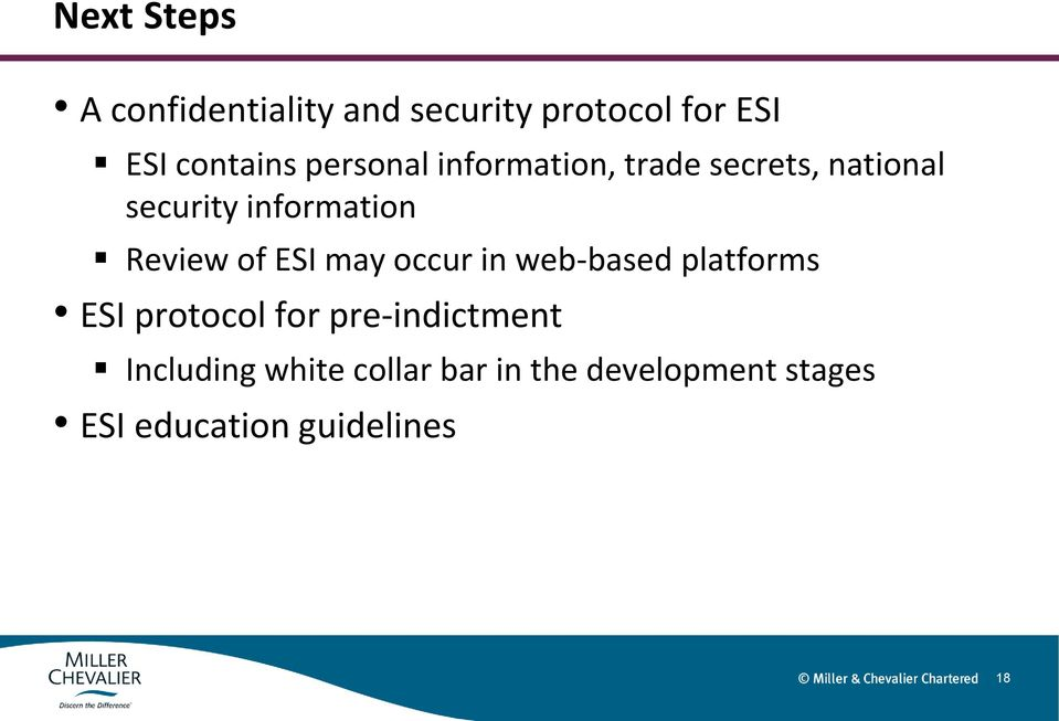 of ESI may occur in web-based platforms ESI protocol for pre-indictment