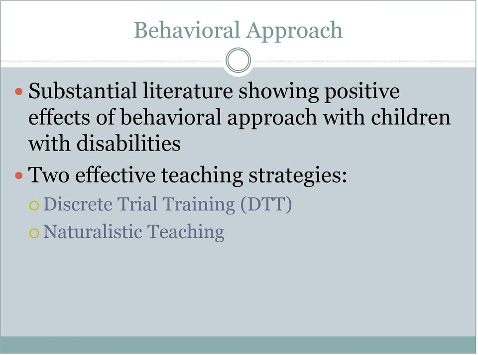 children with disabilities Two effective teaching