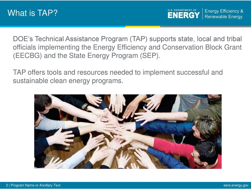Grant (EECBG) and the State Energy Program (SEP).