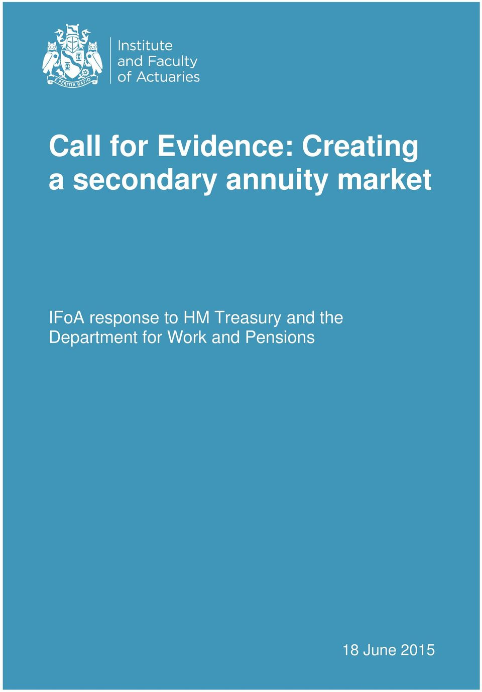 response to HM Treasury and the