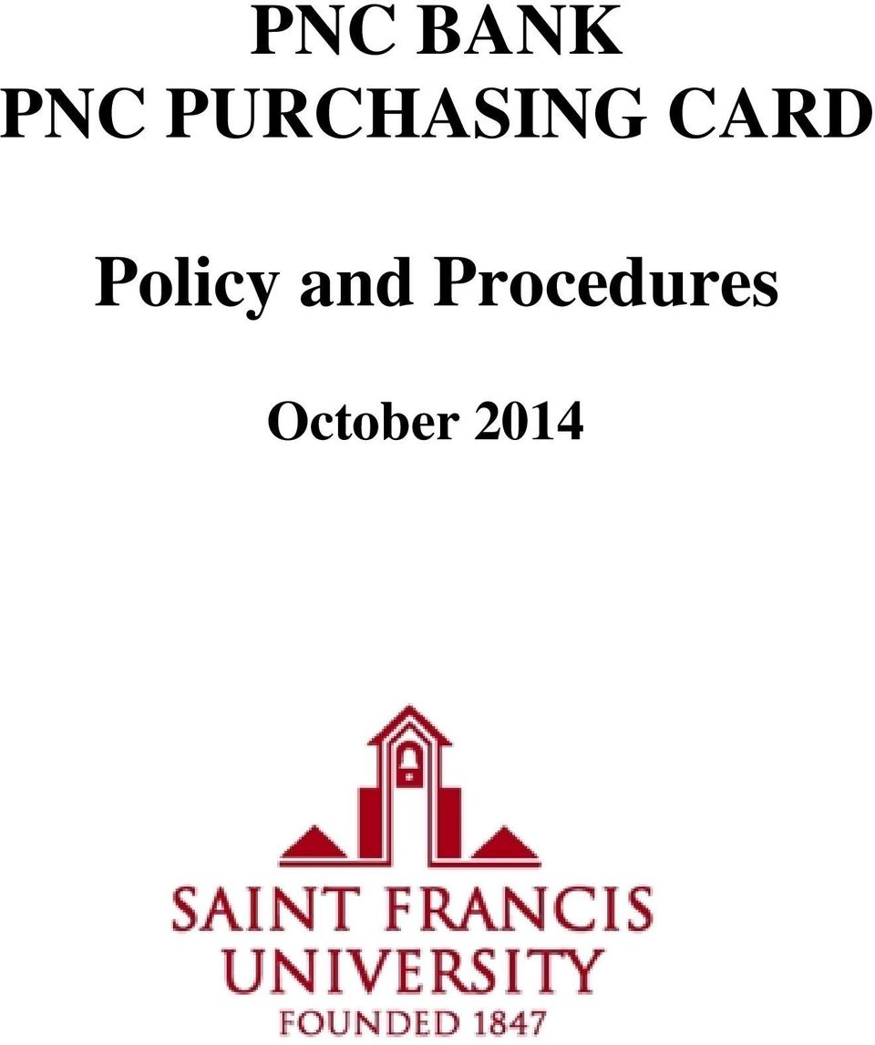 PNC PURCHASING CARD