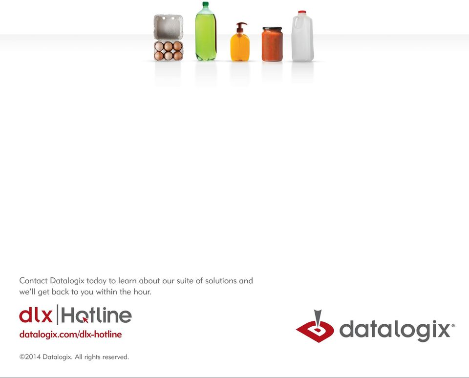 to you within the hour. datalogix.