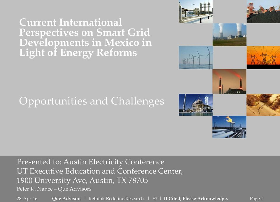 Austin Electricity Conference UT Executive Education and Conference