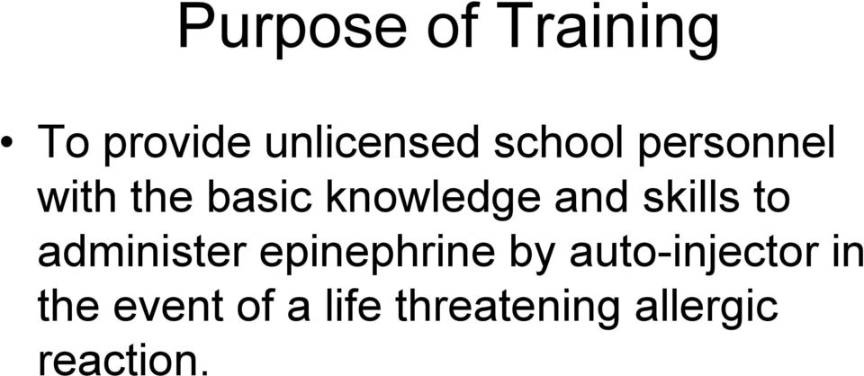 skills to administer epinephrine by