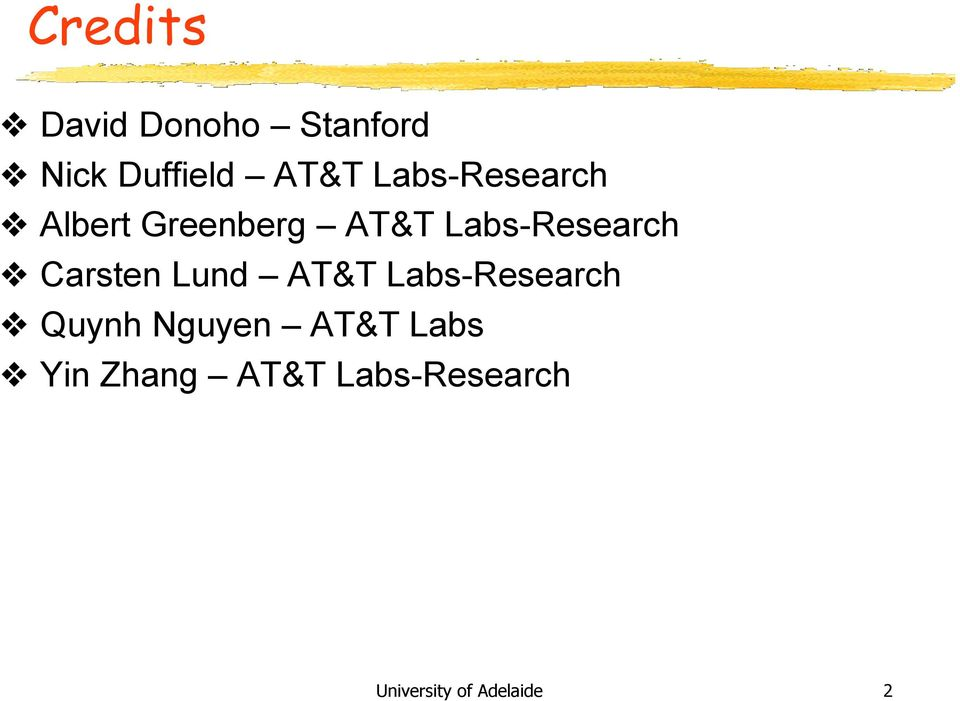 Labs-Research Carsten Lund AT&T Labs-Research