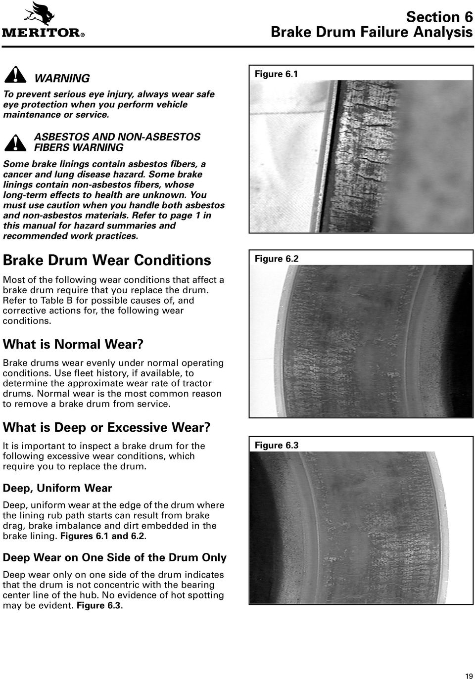 Some brake linings contain non-asbestos fibers, whose long-term effects to health are unknown. You must use caution when you handle both asbestos and non-asbestos materials.