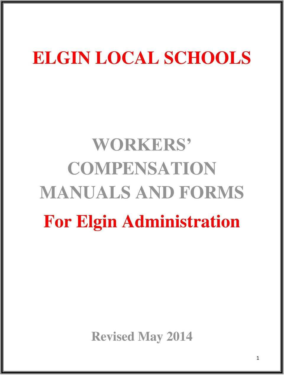 MANUALS AND FORMS For