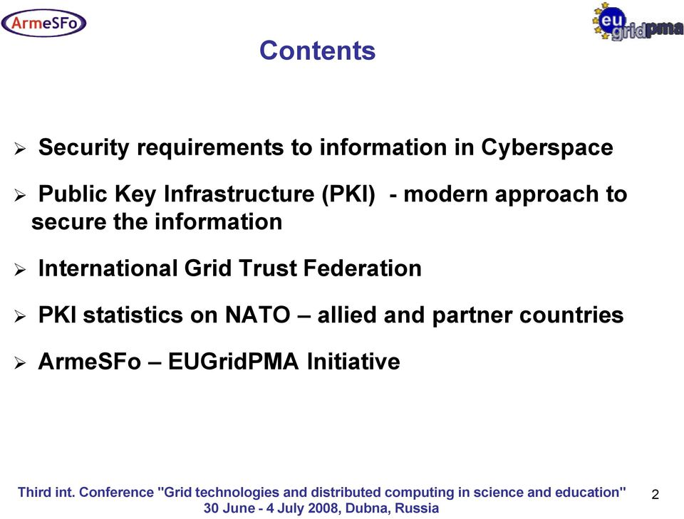 information International Grid Trust Federation PKI statistics