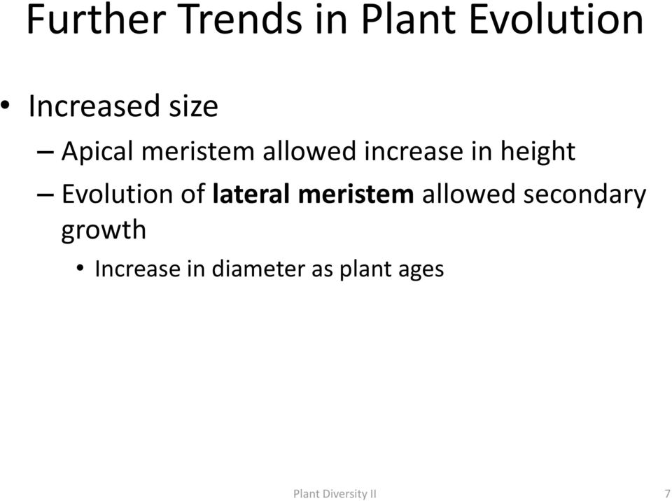 Evolution of lateral meristem allowed secondary