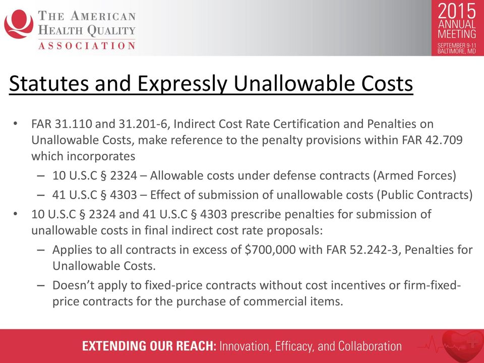 C 2324 Allowable costs under defense contracts (Armed Forces) 41 U.S.