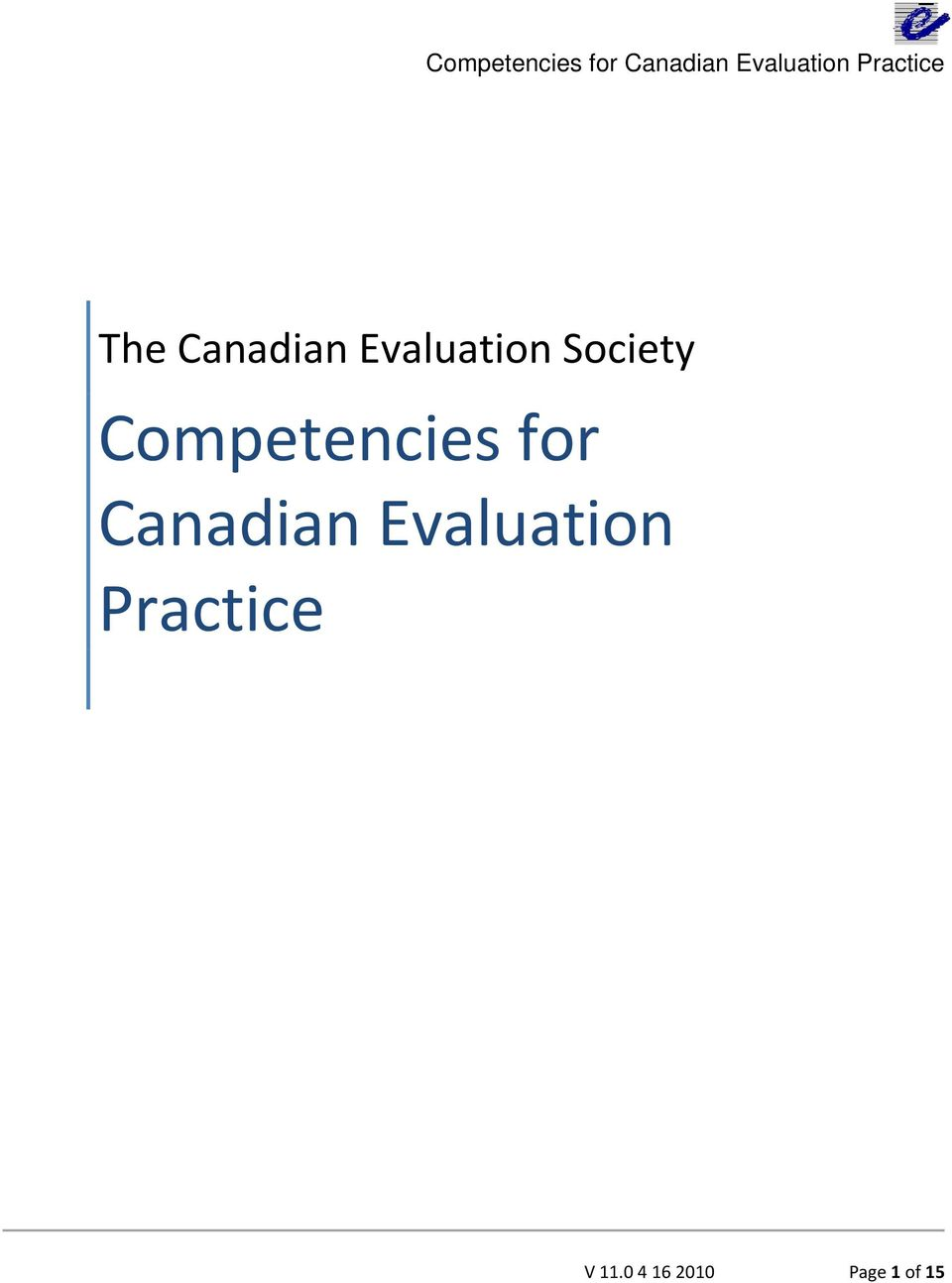 Canadian Evaluation