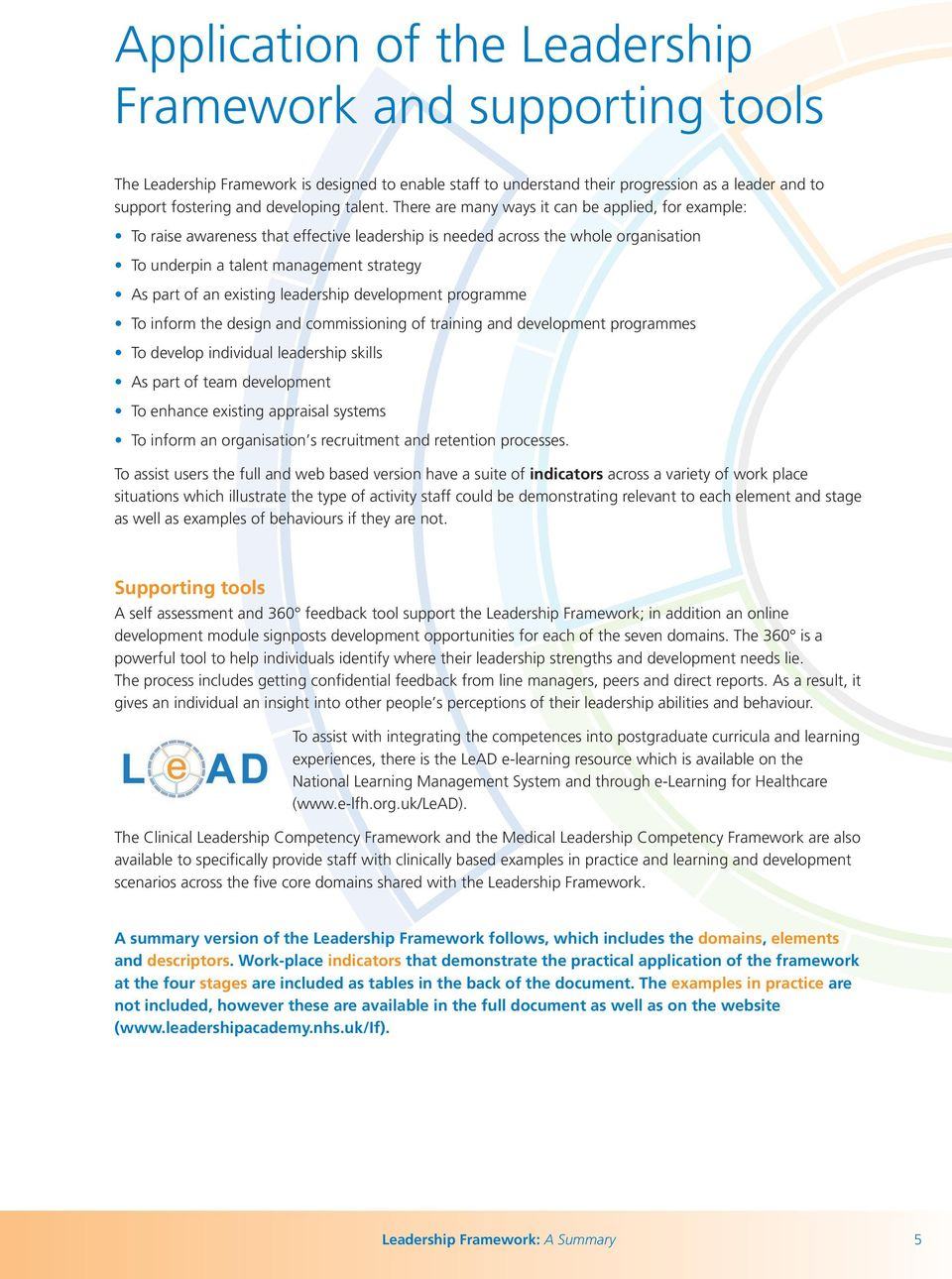 Leadership Academy Leadership Framework - PDF