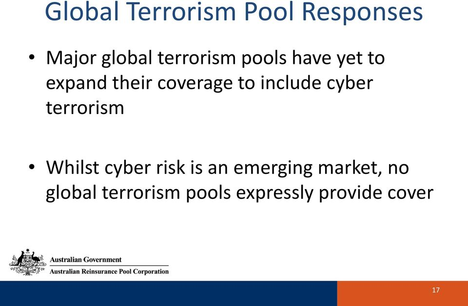 include cyber terrorism Whilst cyber risk is an