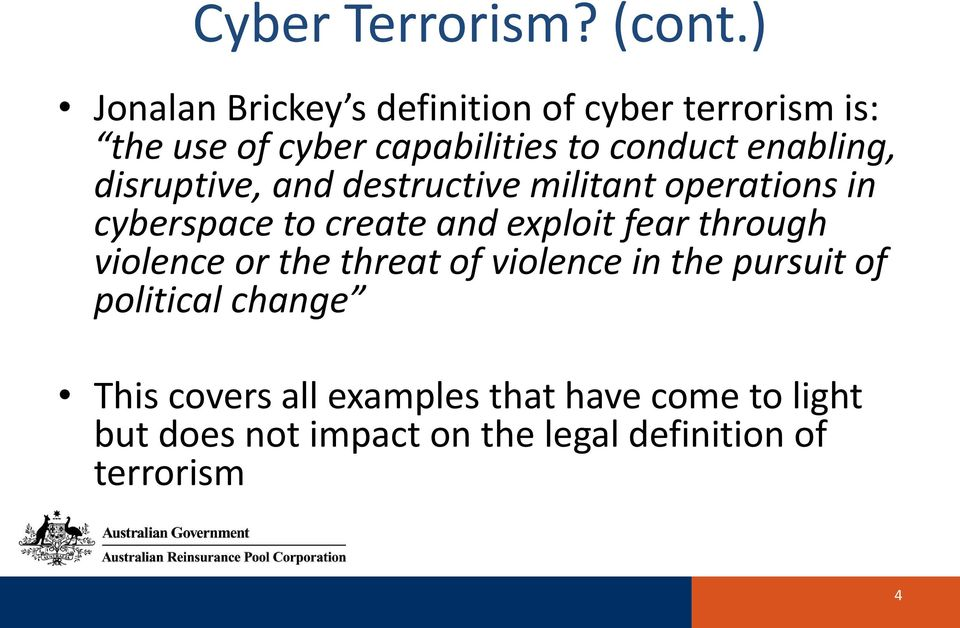 enabling, disruptive, and destructive militant operations in cyberspace to create and exploit fear