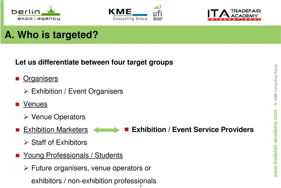 Organisers Venues Venue Operators Exhibition Marketers Exhibition / Event