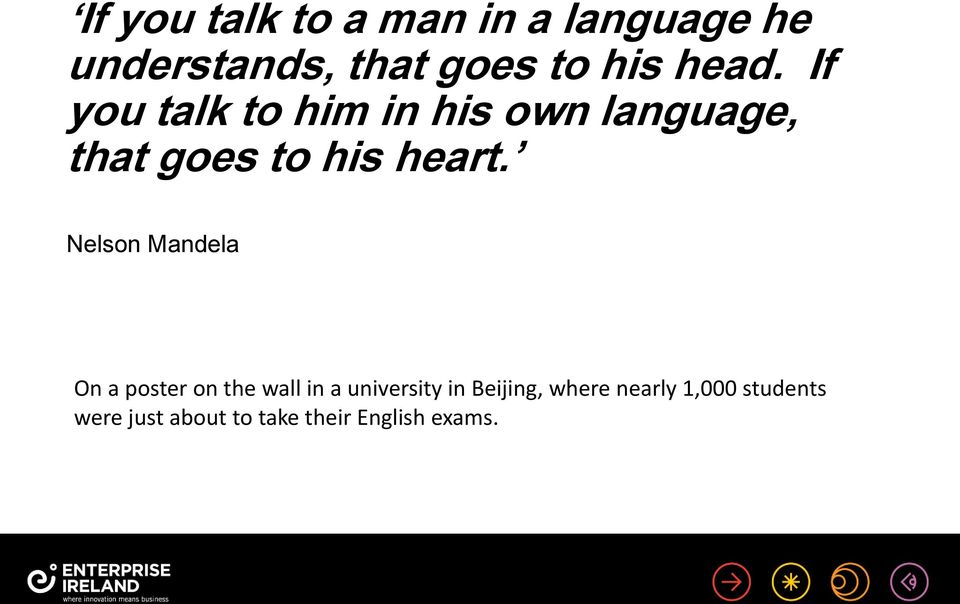 Nelson Mandela On a poster on the wall in a university in Beijing,