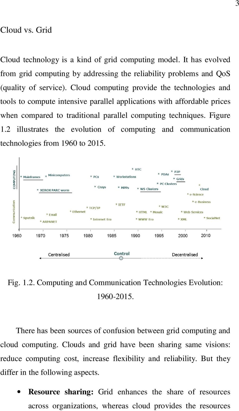 2 illustrates the evolution of computing and communication technologies from 1960 to 2015. Fig. 1.2. Computing and Communication Technologies Evolution: 1960-2015.