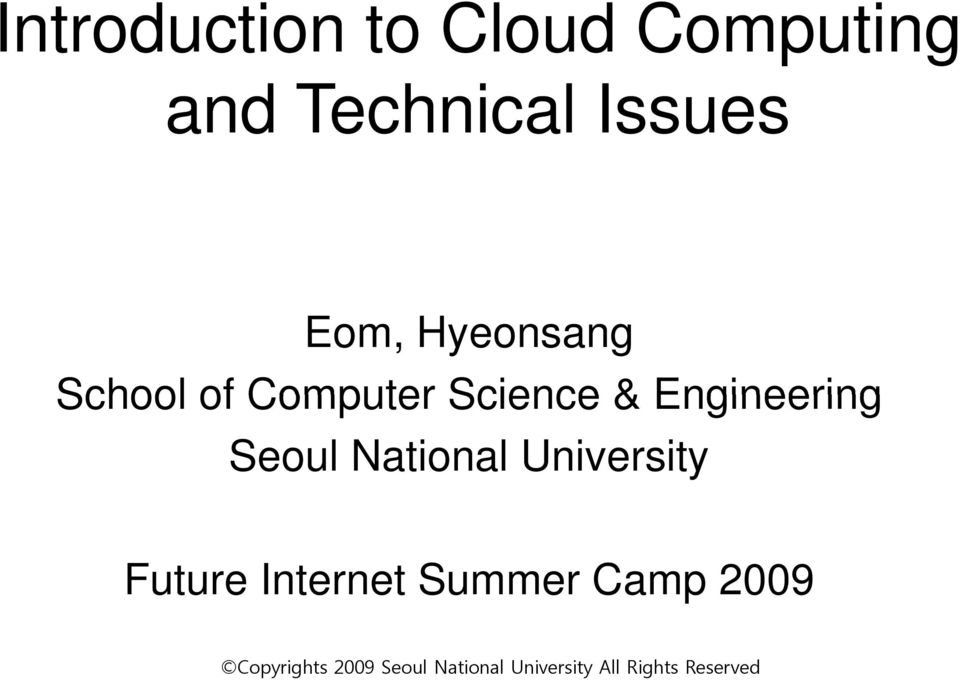 Computer Science & Engineering Seoul