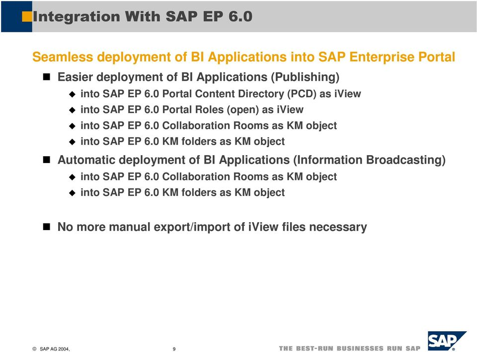 0 Collaboration Rooms as KM object into SAP EP 6.