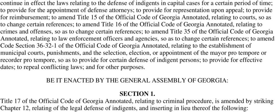 Georgia Annotated, relating to crimes and offenses, so as to change certain references; to amend Title 35 of the Official Code of Georgia Annotated, relating to law enforcement officers and agencies,