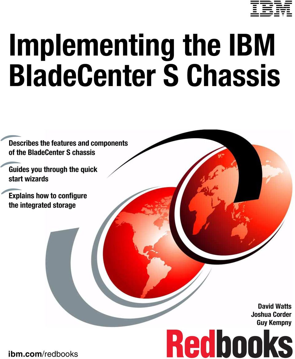 Implementing the IBM BladeCenter S Chassis - PDF