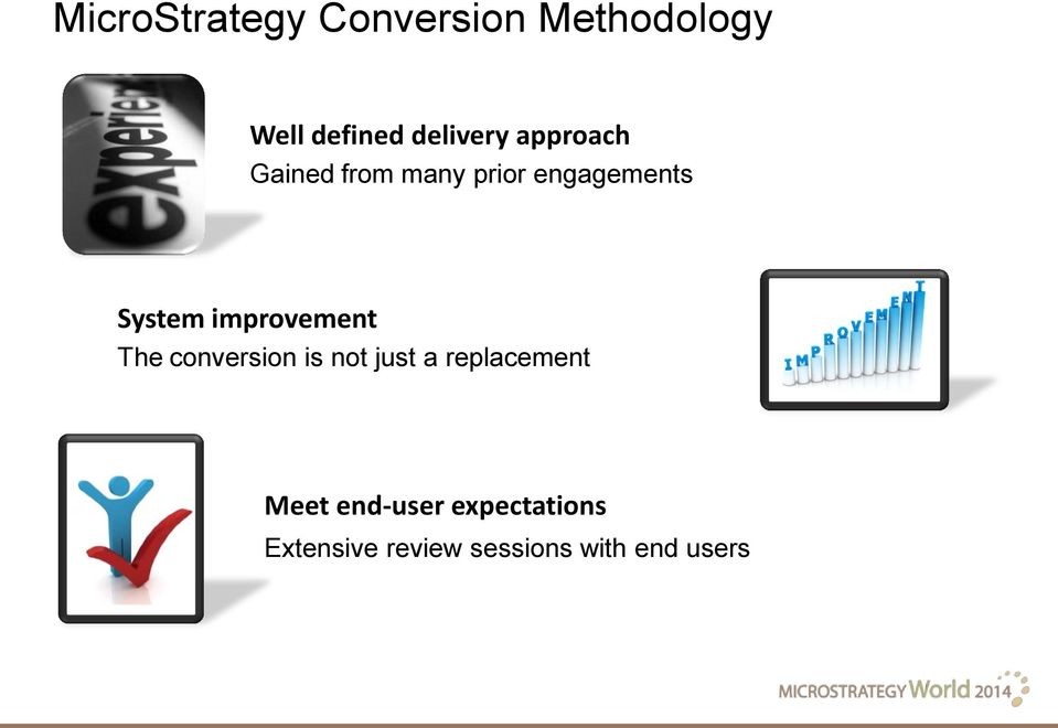 System improvement The conversion is not just a