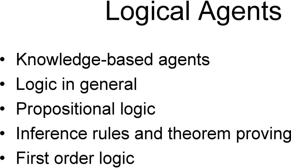 Propositional logic Inference