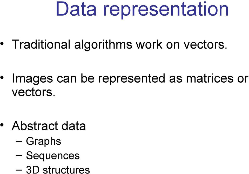 Images can be represented as matrices
