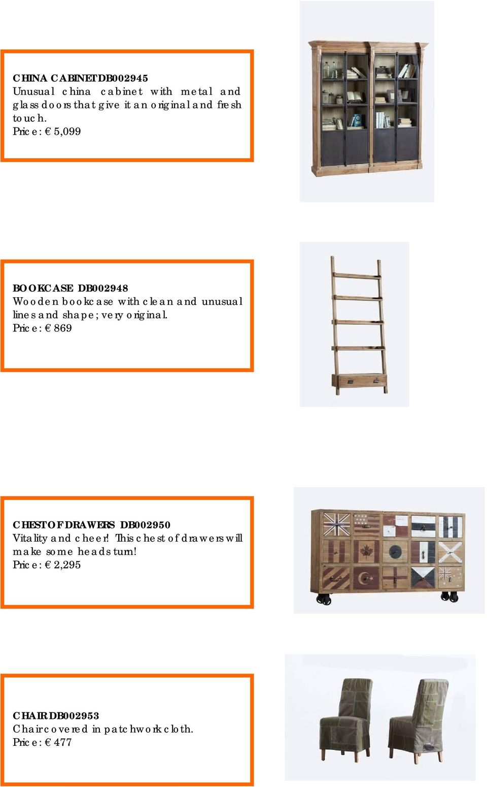 Price: 5,099 BOOKCASE DB002948 Wooden bookcase with clean and unusual lines and shape; very