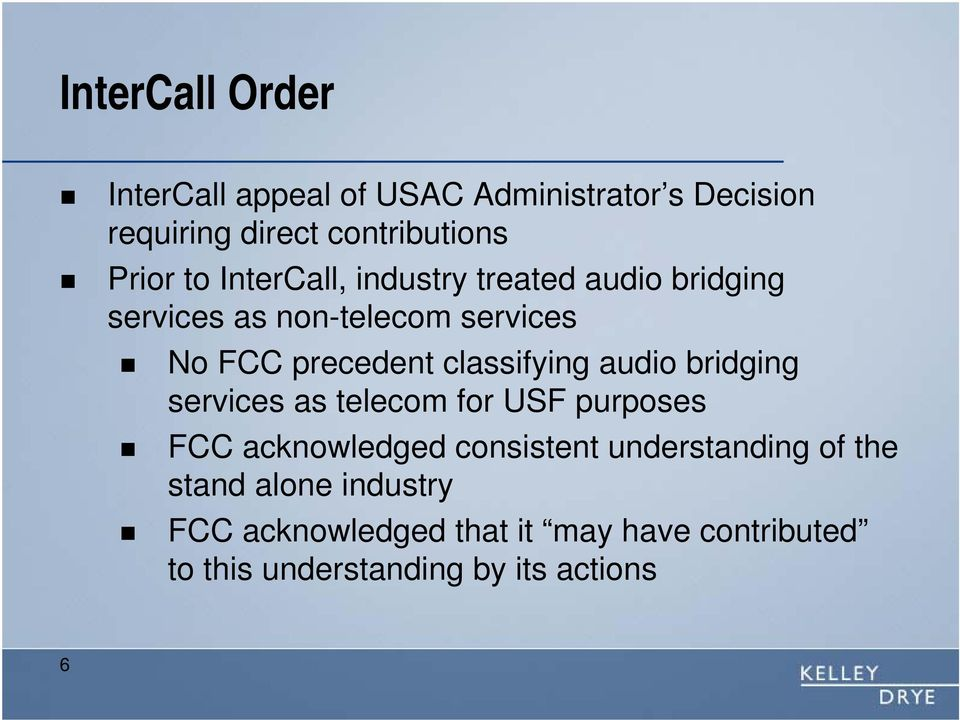 classifying audio bridging services as telecom for USF purposes FCC acknowledged consistent