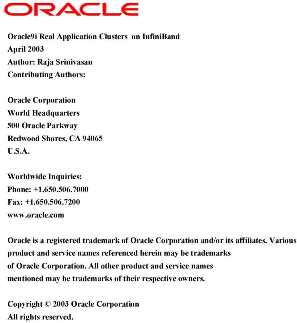 com Oracle is a registered trademark of Oracle Corporation and/or its affiliates.