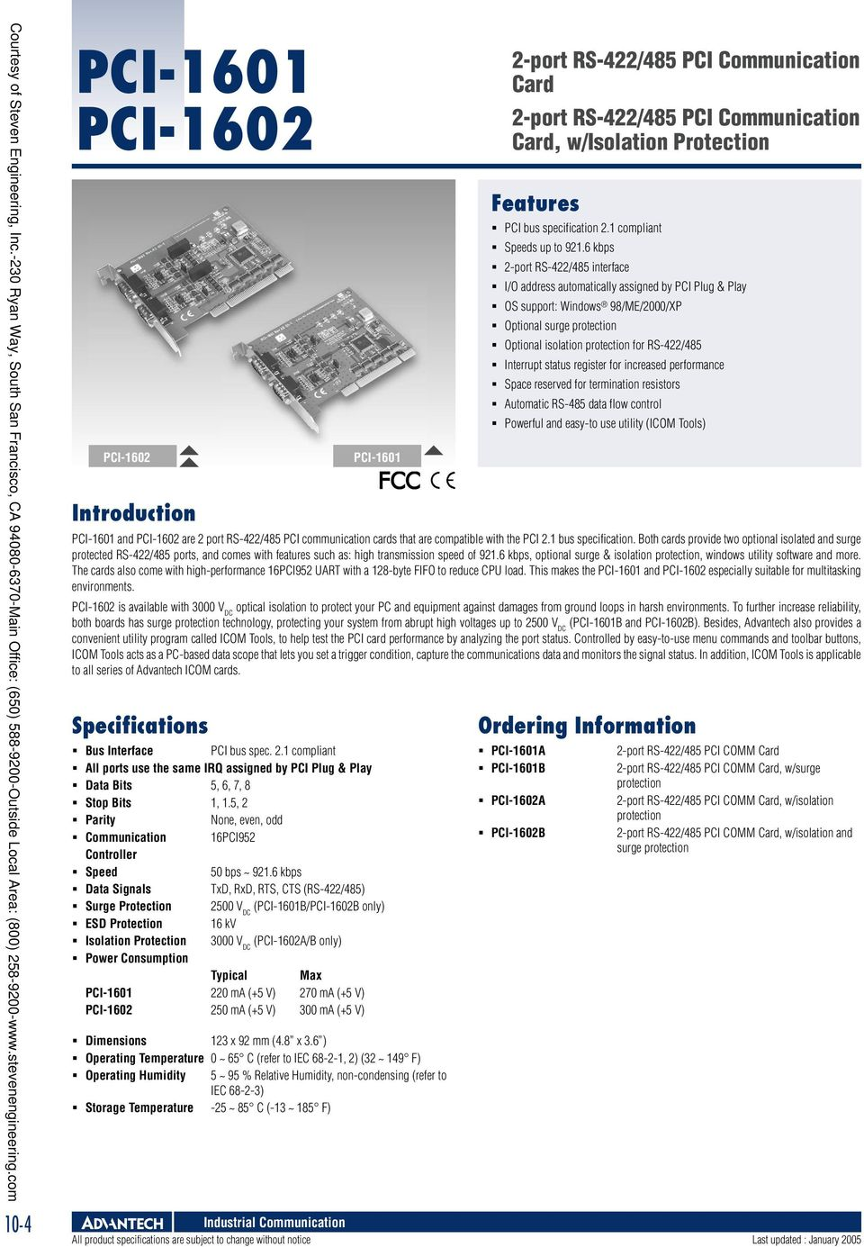 Industrial Communication Pdf Usb To Serial Surge And Optical Isolation Converter Rs422 485 V 0 Ma Pci