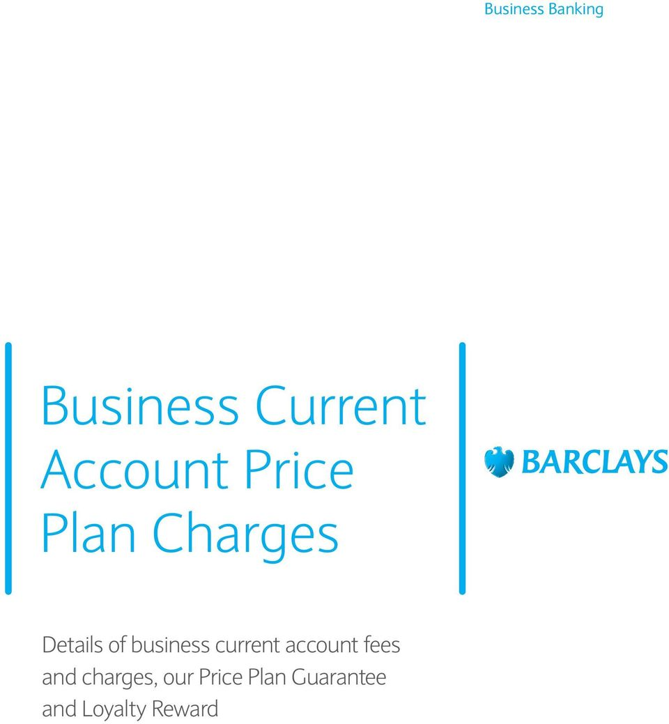 business current account fees and