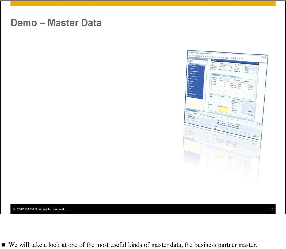 kinds of master data,