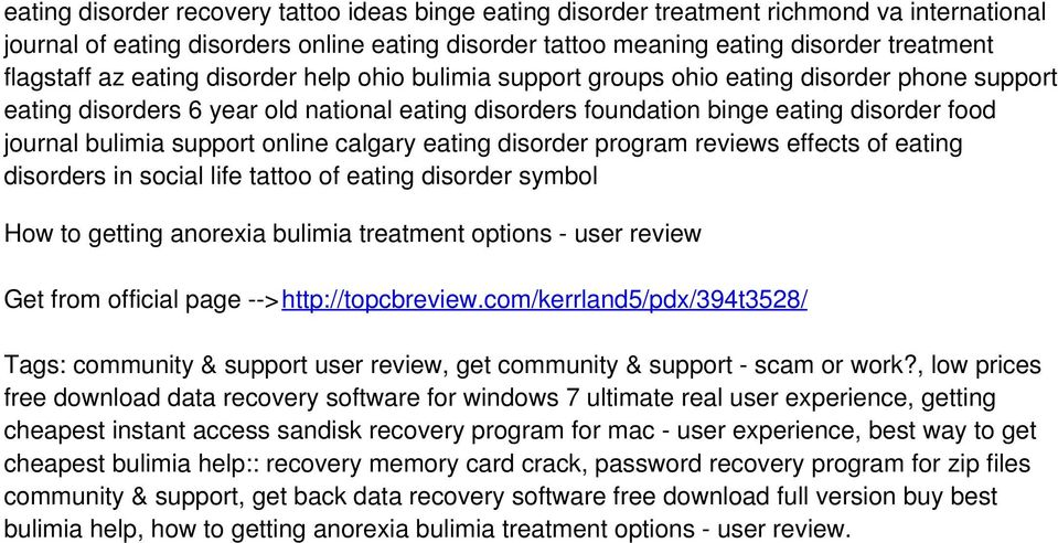 support online calgary eating disorder program reviews effects of eating disorders in social life tattoo of eating disorder symbol How to getting anorexia bulimia treatment options - user review Get