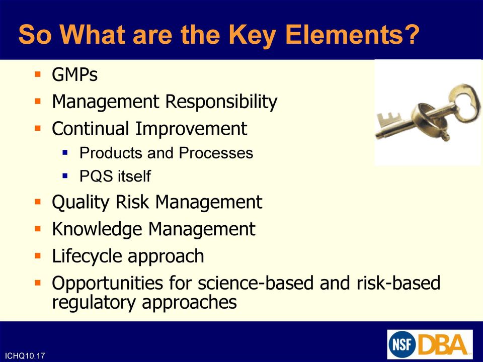 and Processes PQS itself Quality Risk Management Knowledge