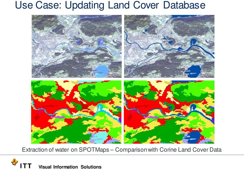 ENVI EX Corine Land Cover Extraction of water