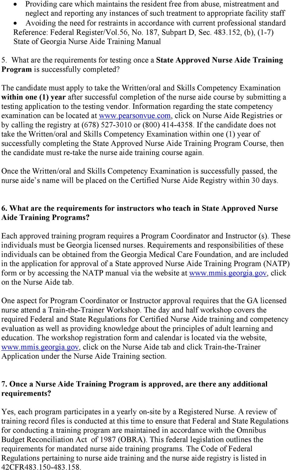 What are the requirements for testing once a State Approved Nurse Aide Training Program is successfully completed?